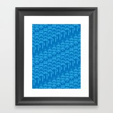 Video Game Controllers - Blue Framed Art Print