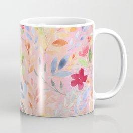 Floral Script Pattern - Pink Carnation Coffee Mug