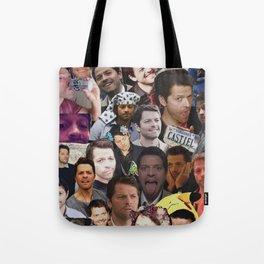 Misha Collins Collage Tote Bag