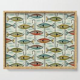 Vintage Color Block Fish Serving Tray