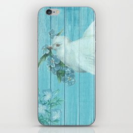 Shabby Chic Dove Of Peace iPhone Skin