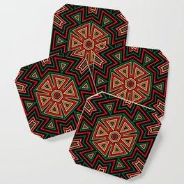 Aztec Hexagon Geometric Coaster