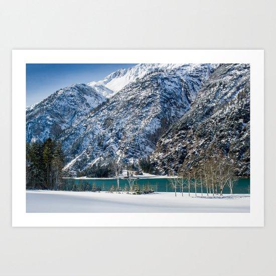 Achensee Winter Landscape Art Print