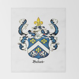 Family Crest - Bullard - Coat of Arms Throw Blanket