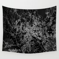 rome Wall Tapestries featuring Rome by Line Line Lines