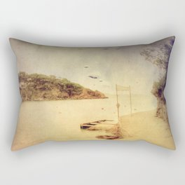 The path that hugs the beach Rectangular Pillow