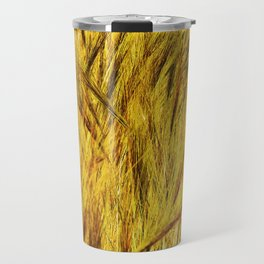 Wild Grass Burnished By The Sun Travel Mug