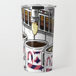 "Coffee Machine ""Visual Toy"" Illustration. Travel Mug"