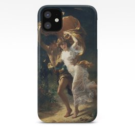 The Storm by Pierre-Auguste Cot 1880, French iPhone Case