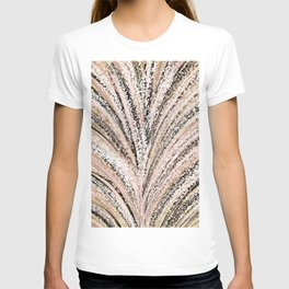 Rose Gold and Glitter Brushstroke Bursts T-shirt