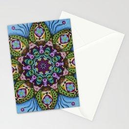 Blue Health Mandala - מנדלה בריאות Stationery Cards