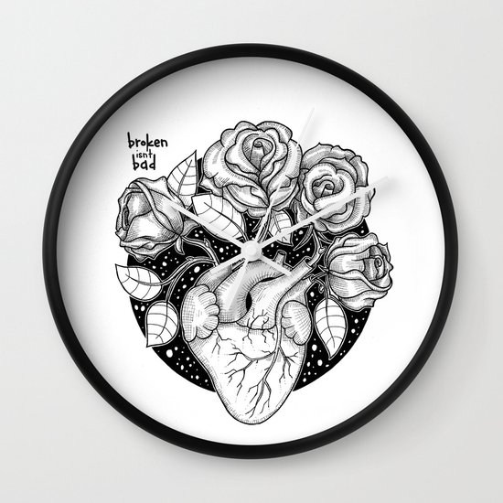Blossom That Blooms In The Heart Wall Clock By Brokenisntbad
