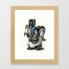 Portrait of Mr. Skunk Framed Art Print