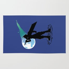 Cloud and the Meteor - Final Fantasy VII Rug