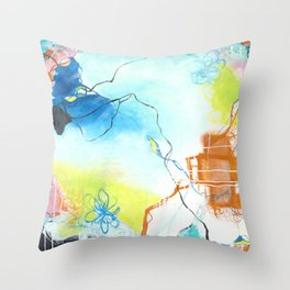 The Dreaming - Square Abstract Expressionism Throw Pillow