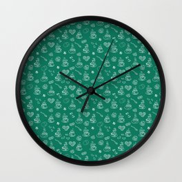 Tea time lush meadow Wall Clock