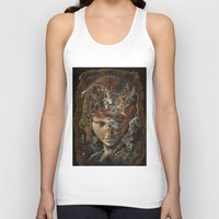 labyrinth Tank Tops featuring Labyrinth by Hikaru Miyakawa