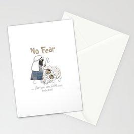 Christian Design - No Fear, Shepherd in Blue Denim - Psalm 23 Stationery Cards