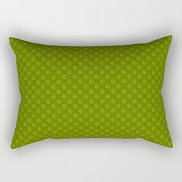 Green Star Circle Pattern Rectangular Pillow