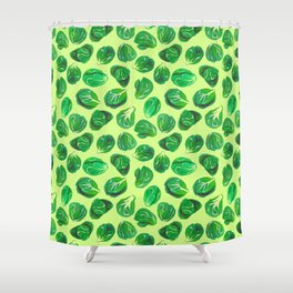 Brussel sprouts pattern for veggie lovers Shower Curtain