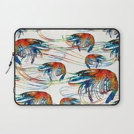 Colorful Shrimp Collage Art by Sharon Cummings Laptop Sleeve