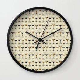 Vintage Wine Glasses Wall Clock