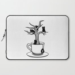Bare tree with cats growing inside a cup of tea Laptop Sleeve