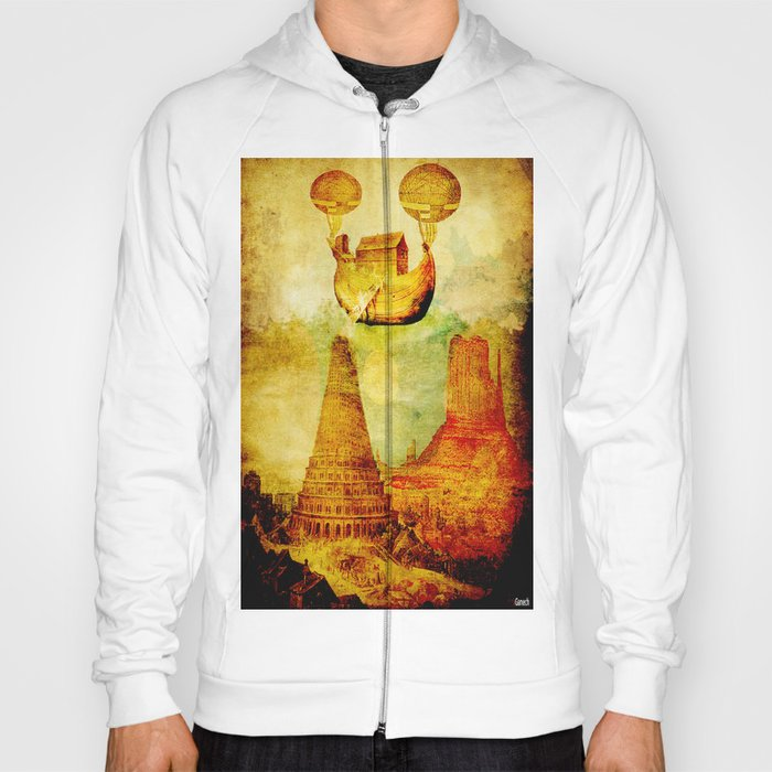 The Noah's Ark arrives on the tower of Babel Hoody