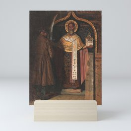 Vasily Vereshchagin - Icon of St Nicholas from the Upper Reaches of the River Pinega Mini Art Print
