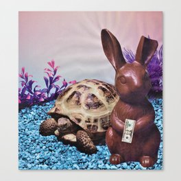 Chocolate Bunny Money Canvas Print