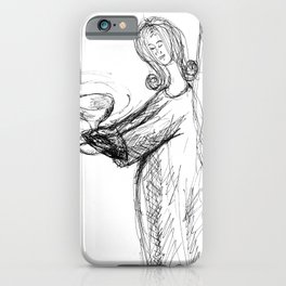 Angel with Holy Grail iPhone Case