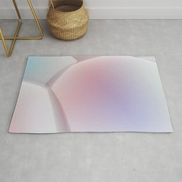 3D abstract sphere background Rug