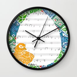 Easter Chick  (Acrylic on hymn) Wall Clock