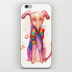 pet dog with precious toys iPhone Skin