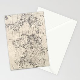 Vintage Map of The World (1750) Stationery Cards