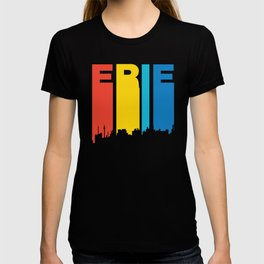 Retro 1970's Style Erie Pennsylvania Skyline T-shirt