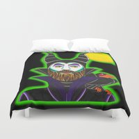 maleficent Duvet Covers featuring MALEficent by Travis Butchart