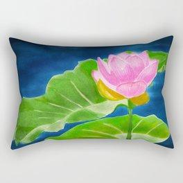 Pink Lotus Beauty Rectangular Pillow