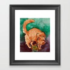 saint cat Framed Art Print