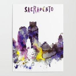 Sacramento City Skyline Poster