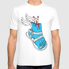 Holy Feet!_by LelosLovesYou White MEDIUM Mens Fitted Tee