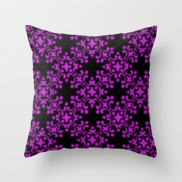Dazzling Violet Vintage Brocade Damask Throw Pillow