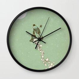 Solitary Flight Wall Clock