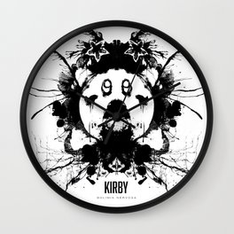 Kirby Ink Blot Geek Psychological Disorders Wall Clock