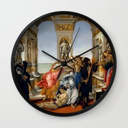 "Sandro Botticelli ""The Calumny of Apelles"" Wall Clock"