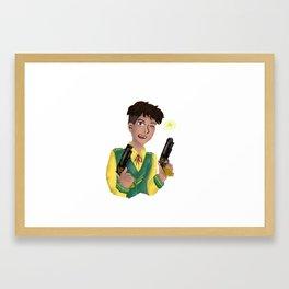 Jesper finger guns Framed Art Print