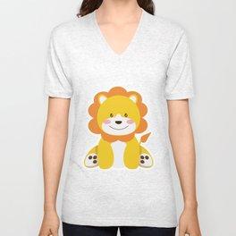 Lion in the savannah Unisex V-Neck