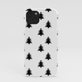 Black and White Christmas Trees iPhone Case