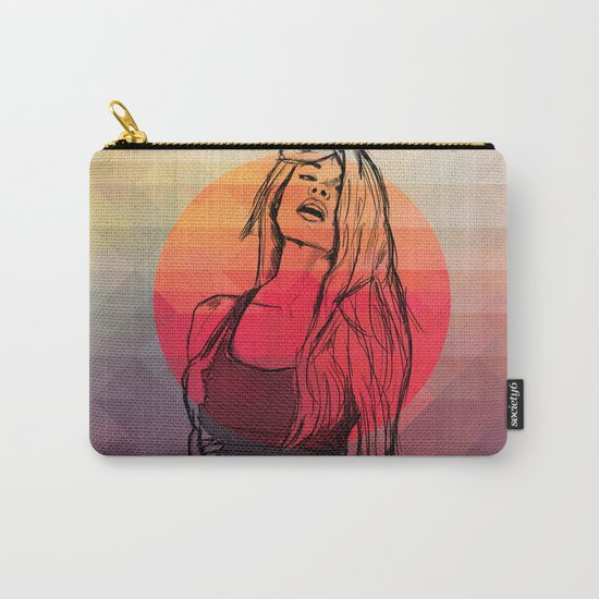 Geometric Sexy Girl Sketch Carry-All Pouch