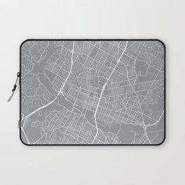Austin Map, Texas USA - Pewter Laptop Sleeve